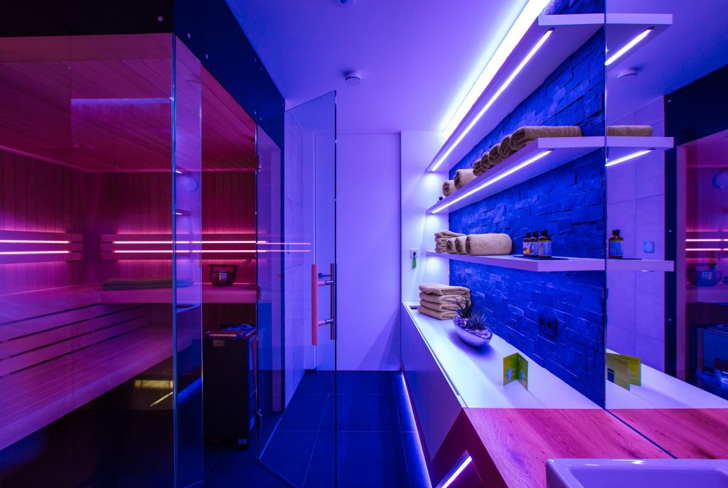 inteligentní ovládání sauny loxone
