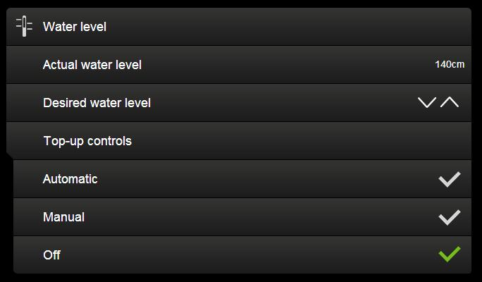 automatické napouštění bazénu - aktivace v aplikaci