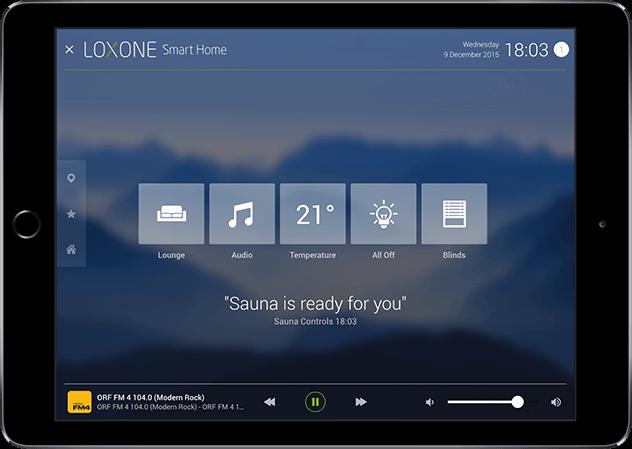 Aplikace Loxone oznámení