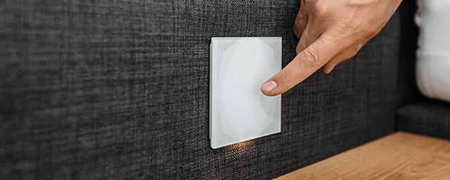 Designové cyhtré dotykové tlačítko Loxone Touch Pure