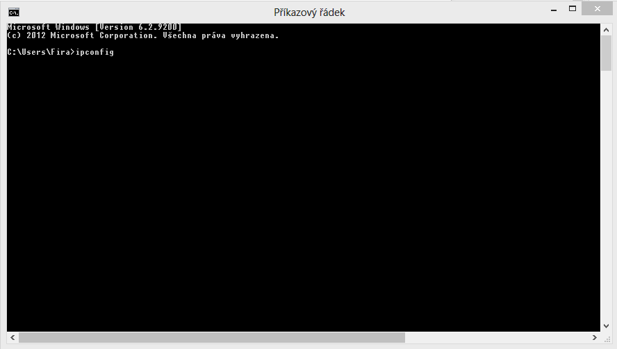 Zjištění IP adresy v příkazovém řádku