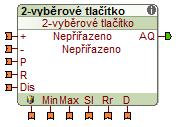 2-vyberove tlacitko funkční blok