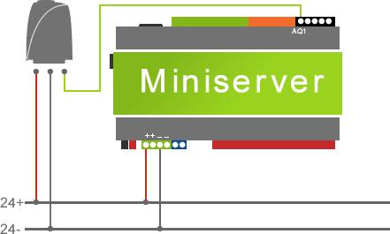 zapojení analogové hlavice 0-10 V do loxone miniserveru