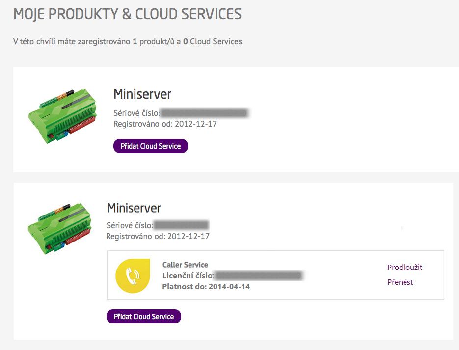 Přehled Cloud services