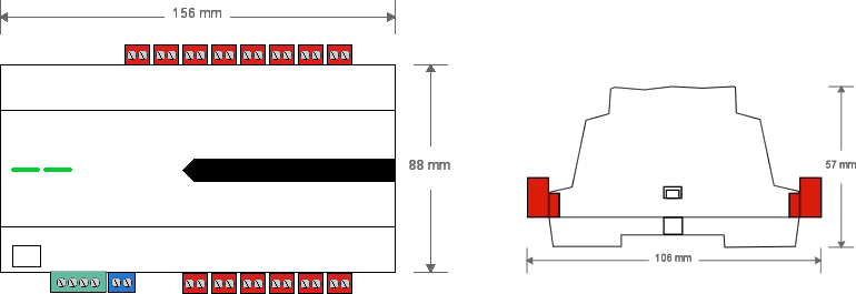 Relay extension rozměry