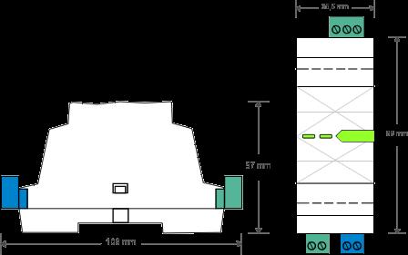 dmx rozměry technický nákres