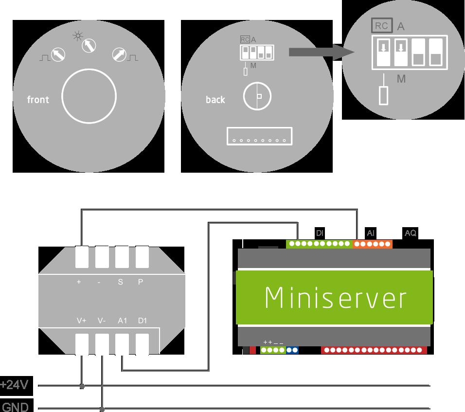 zapojení senzoru přítomnosti (PIR) 24V