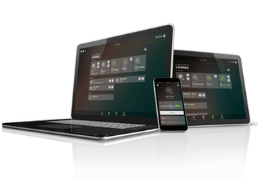 Loxone aplikace - režim na zeď