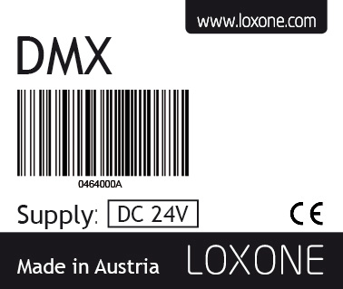 sériové číslo DMX