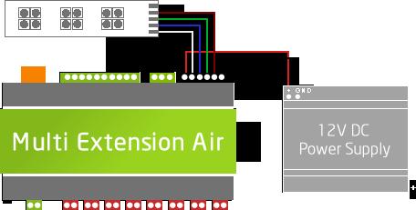 Připojení 12V - dodatečný zdroj pro LED