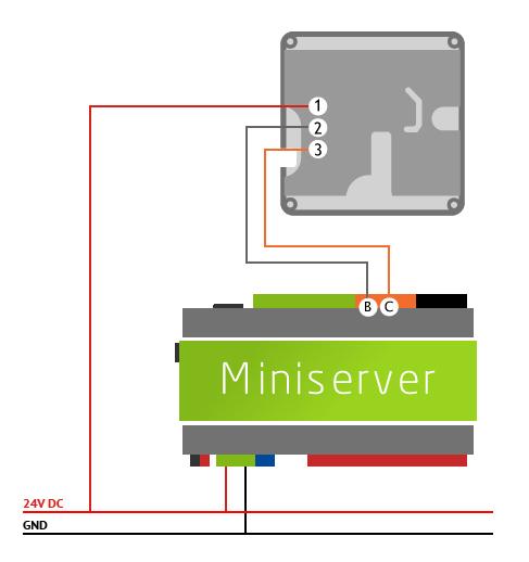 teplotní senzor zapojení kabeláž loxone miniserver