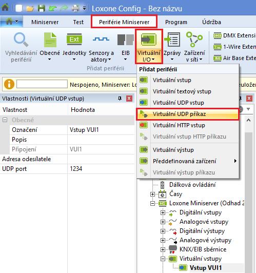 konfigurace UDP config