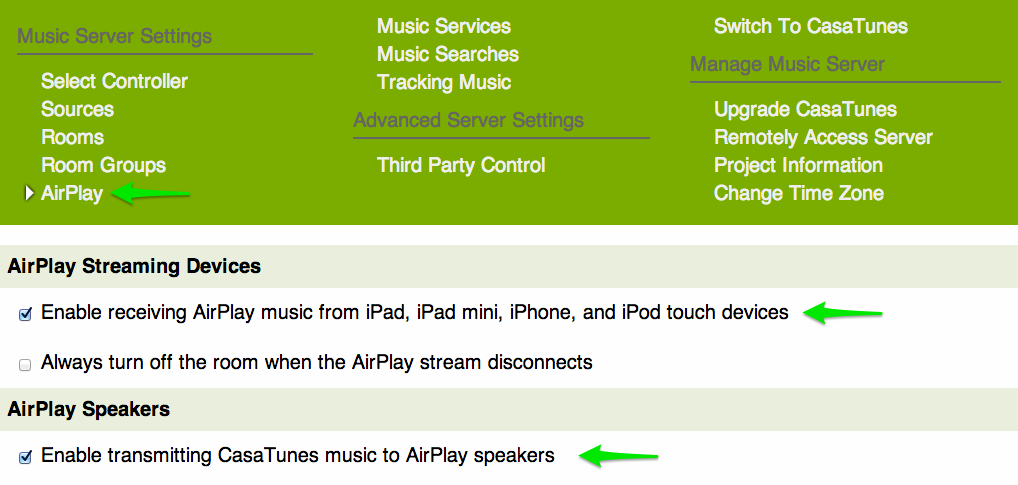 music server airplay