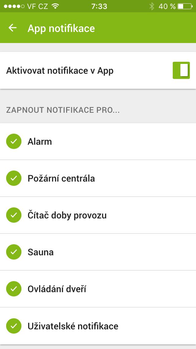 push notifikace loxone app