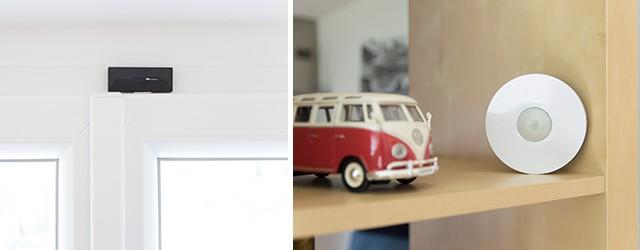 Okenní kontakt a senzor pohybu pro zabezpečení