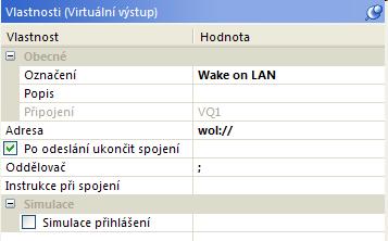 vlastnosti virtualni vystup wake on lan