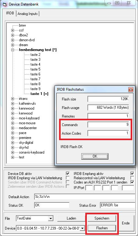databáze zařízení