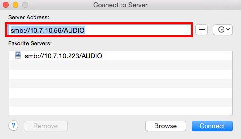 mac adresa music server