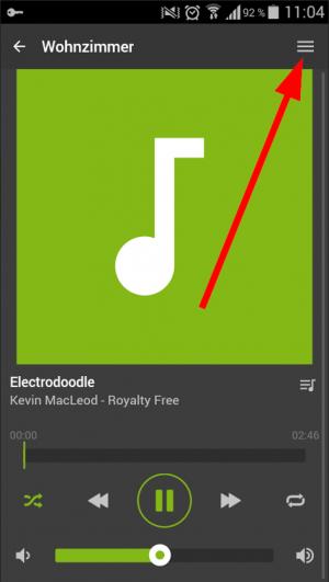 music server aplikace nastaveni ovladani 2