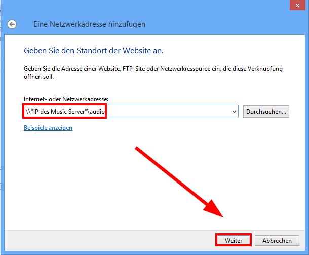 přidání síťové složky windows změna adresy