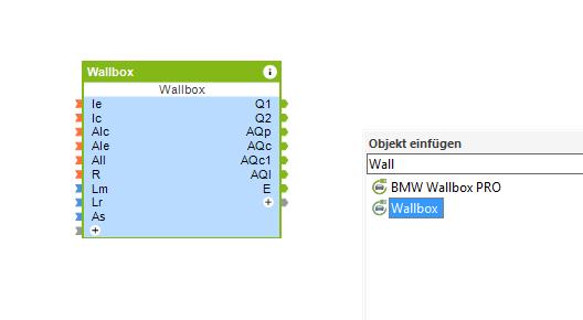 vložení funkčního bloku Wallbox