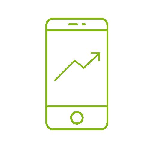 sledování dobájení a celkové spotřeby energie v mobilu