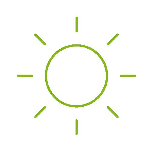 sluníčko bezplatný zdoj tepla pomocí automatického stínění