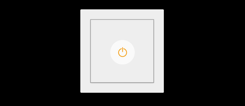tlačítkový standard Loxne Touch jedním stiskem zapnete celou místnost