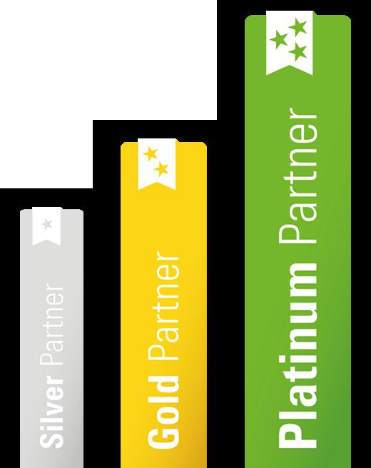 supně partnerství silver, gold, platinum