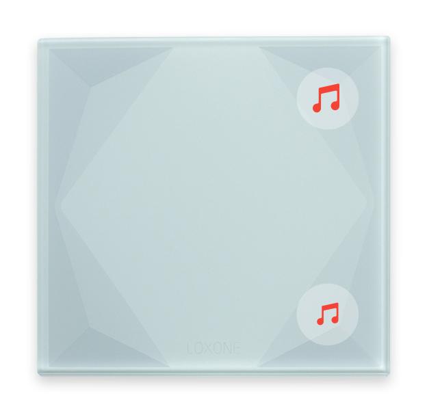 Loxone Touch Pure: chytrý dotykový skleněný vypínač