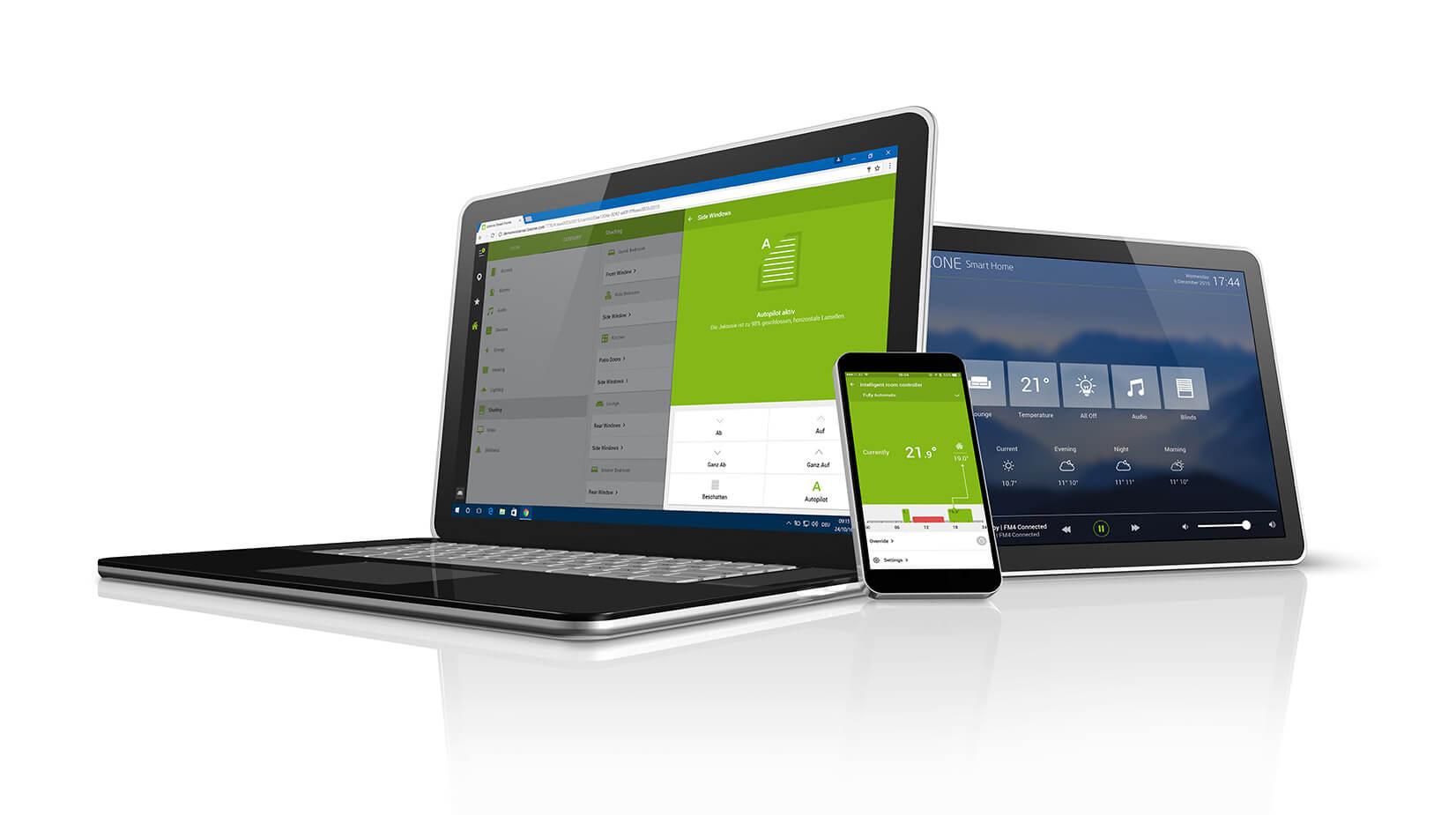 Loxone Smart Home App pro různá zařízení