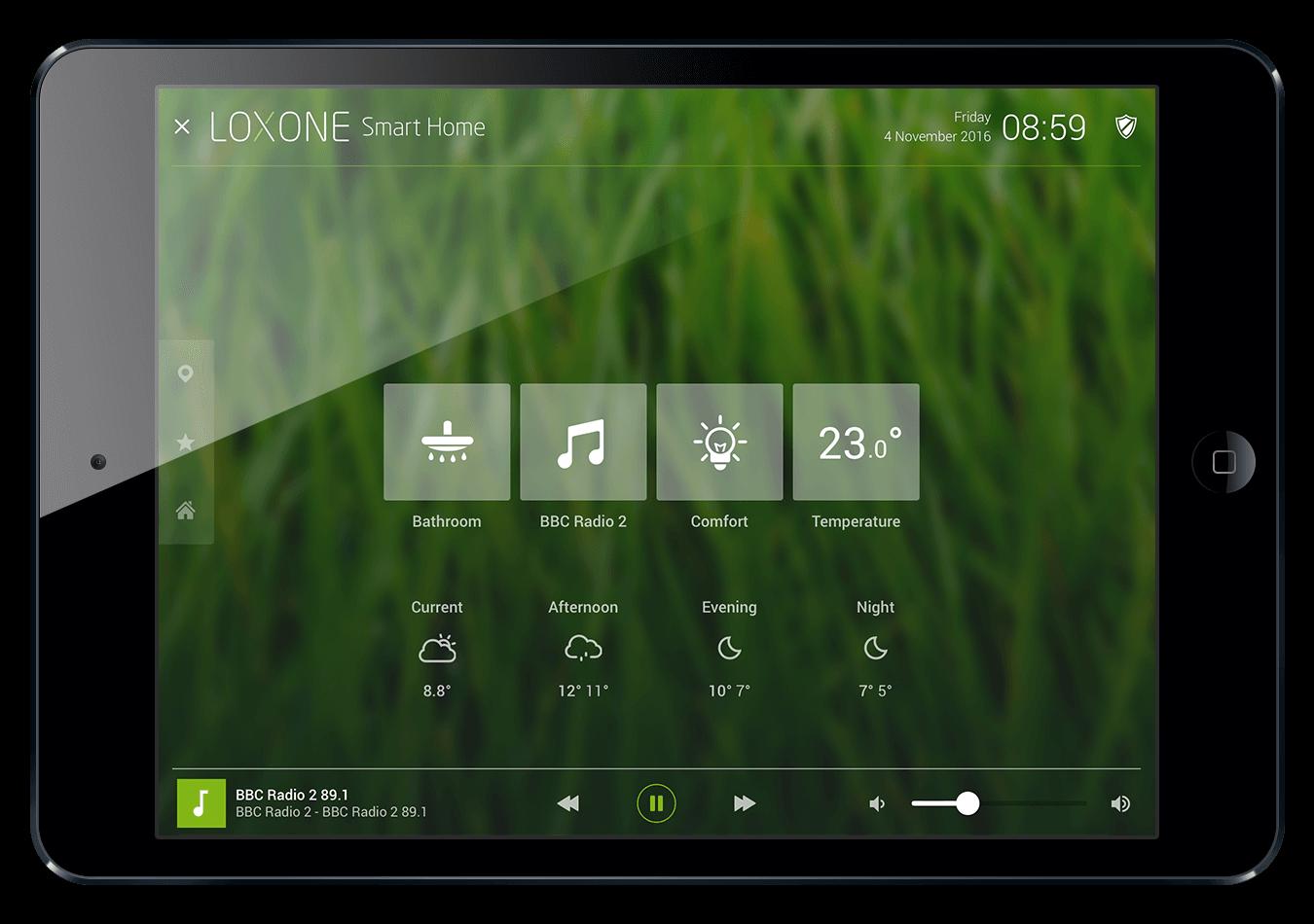 aplikace Loxone App stěna