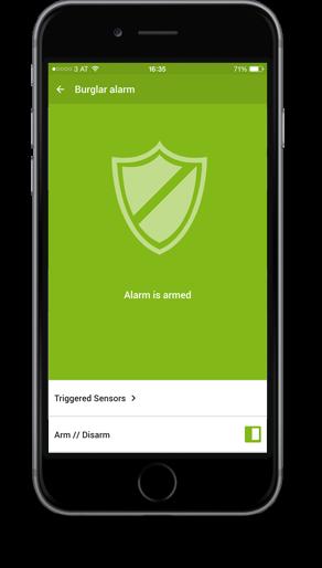 Smart Home App - alarm