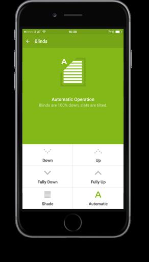 Smart Home App - Stínění