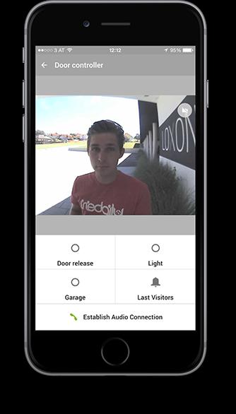 Videovrátník v aplikaci