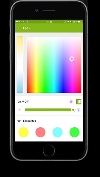 Smart Home App - osvětlení