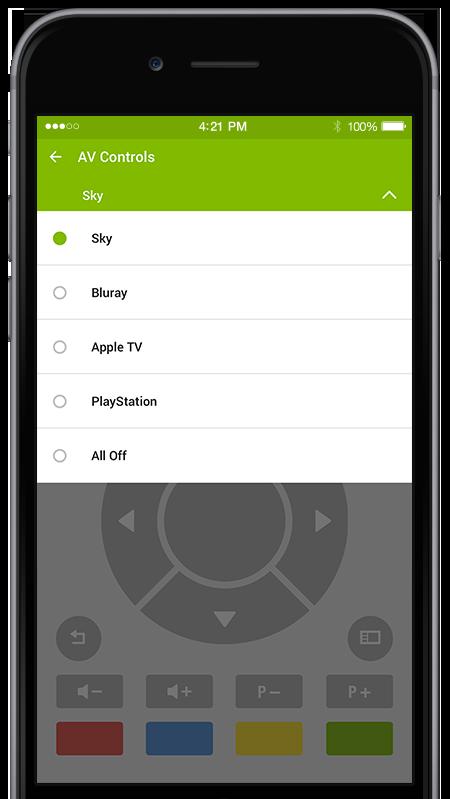 telefon másto ovladače pomocí Miniserveru Loxone