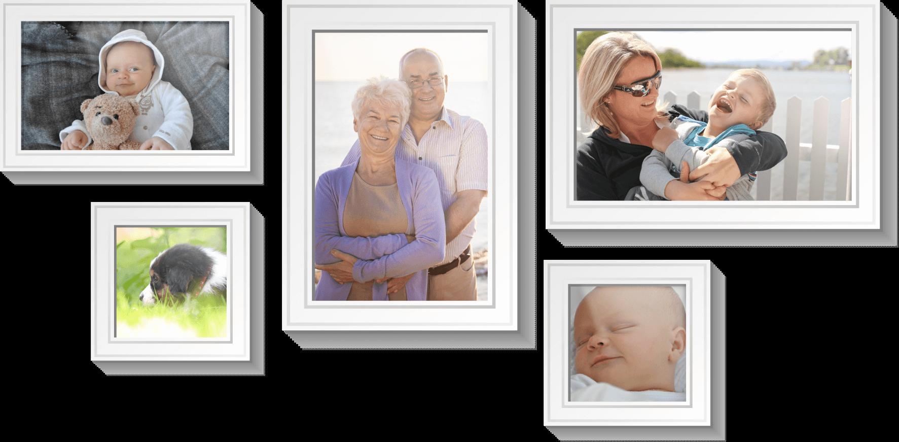 Rodinné fotografie na zdi