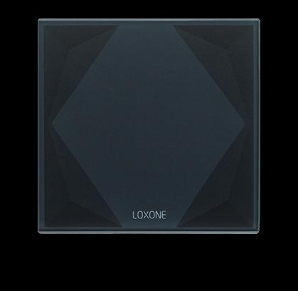loxone tlačítkový standart na černém touch pure