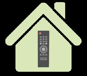 Skica ovládání chytrého domova přes ovladač televize
