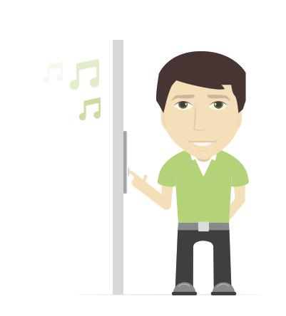 Loxone Music Server může sloužit i jako zvonek