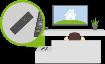 Loxone Remote Air na gauči