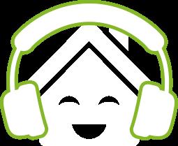 domeček se sluchátky