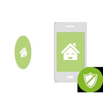 ilustrace principu zabezpečení ovládání loxone pomocí NFC