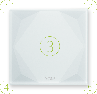Dotykové plochy tlačítka Loxone Touch Pure