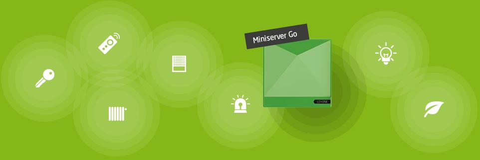 Náčrt komunikace Loxone Minserveru Go s jinými Air komponentami