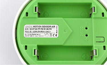 Prostor pro baterie Pohybového senzoru Loxone Air