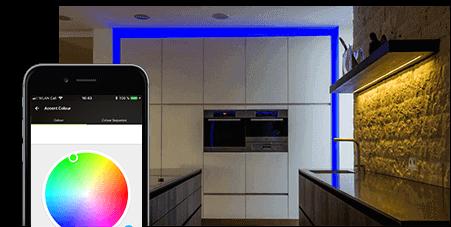 Změna barvy LED pásku pomocí aplikace