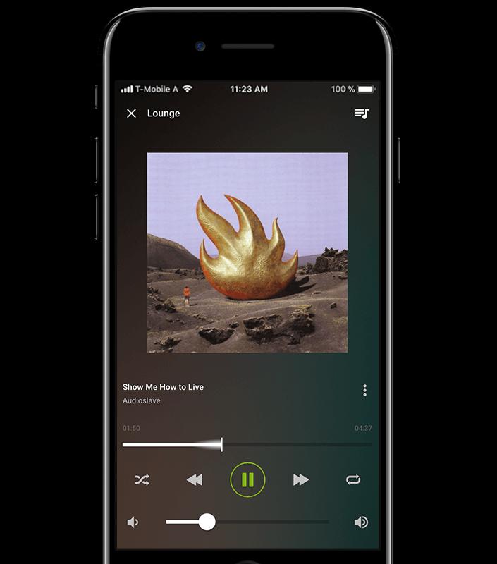 Přehrávání hudby na smartphone