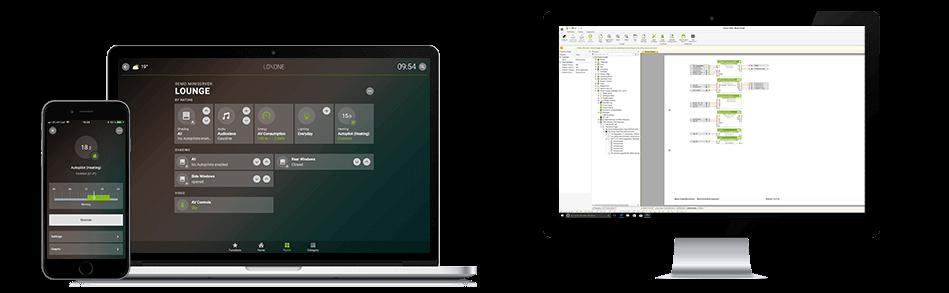 Možnosti ovládání Loxone Smart Home z PC, smartphonu a program Config